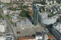 Vista aérea do centro da Maia