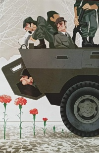cartoon representando militares de abril e cravos